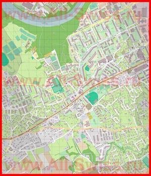Подробная карта города Оне