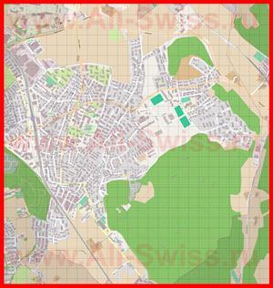 Подробная карта города Остермундиген