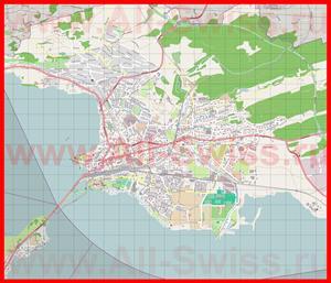 Подробная карта города Рапперсвиль-Йона