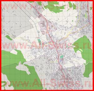 Подробная карта города Райнах