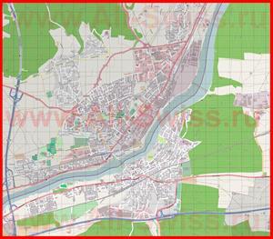 Подробная карта города Райнфельден