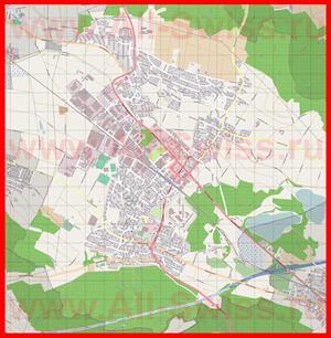Подробная карта города Регенсдорф