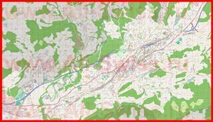 Подробная карта города Санкт-Галлен