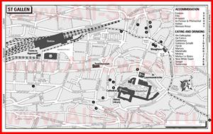 Туристическая карта Санкт-Галлена с достопримечательностями и отелями
