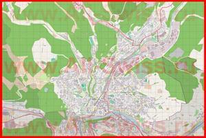 Подробная карта города Шаффхаузен