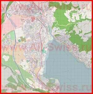Подробная карта города Тун