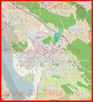 Подробная карта города Устер