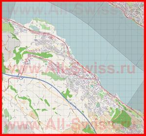 Подробная карта города Веденсвиль