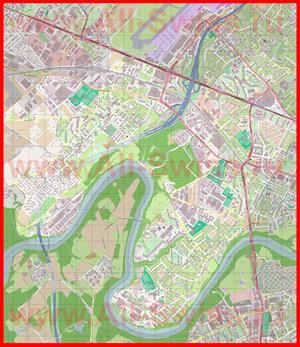 Подробная карта города Верниер