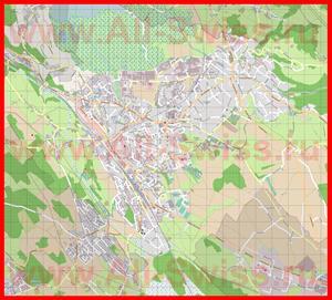 Подробная карта города Ветцикон