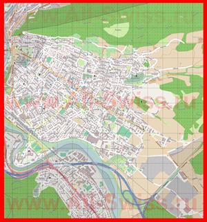 Подробная карта города Веттинген