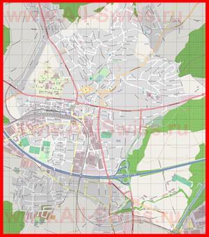 Подробная карта города Виль