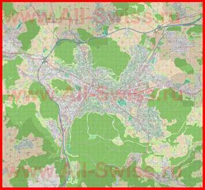 Подробная карта города Винтертур