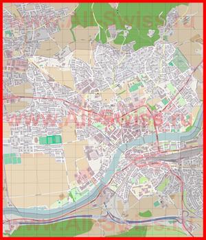 Подробная карта города Золотурн