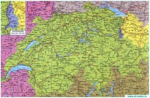 Карта Швейцарии на русском языке