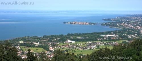 Красивый вид на Боденское озеро