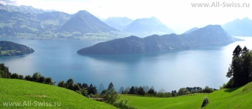 Красивый вид на Фирвальдштетское озеро