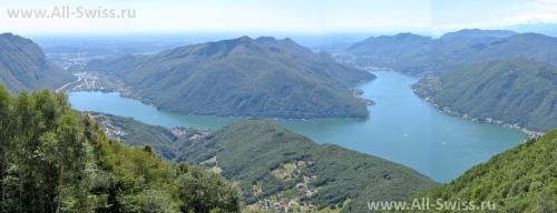 Красивый вид на озеро Лугано