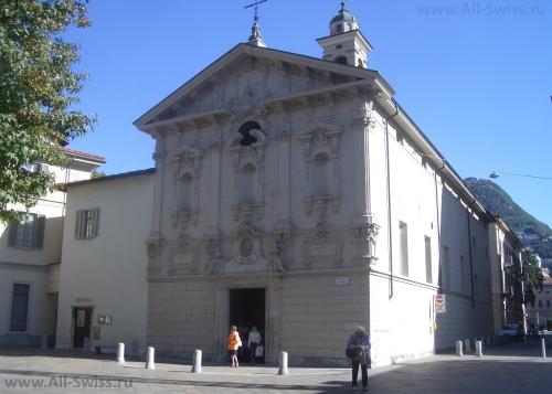 Старинная церковь Сан-Рокко в Лугано