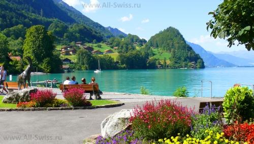 Красивый вид на озеро Бриенц